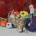 Vegetable Basket With Wine Vinegar by Barbara Carswell