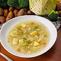 Vegetable Soup by Alain De Maximy