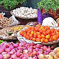 Vegetable Vendor - Omkareshwar India by Kim Bemis