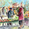 Vegetables Seller In A Provence Market by Miki De Goodaboom