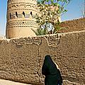 Veiled Woman In Yazd Street In Iran by Jacek Malipan