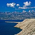 Velebit Mountain From Island Of Pag by Brch Photography