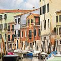 Venetian Apartments Impasto by Sharon Foster