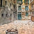 Venetian Courtyard 02 Elena Yakubovich by Elena Yakubovich
