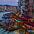 Venetian Grand Canal At Dusk by David Smith
