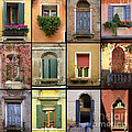Venetian Shutters Collage by Robyn Saunders