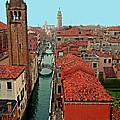 Venetian Street Scene by Michael Moore