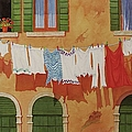 Venetian Washday by Mary Ellen Mueller Legault