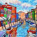 Venezia Colorful Burano by Ana Maria Edulescu