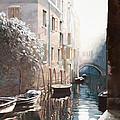 Venezia Sotto La Neve by Guido Borelli