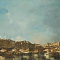 Venice A View Of The Rialto Bridge Looking North From The Fondamenta Del Carbon by Francesco Guardi
