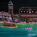 Venice At Night by Loredana Messina