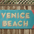 Venice Beach Sign by Bill Jonas