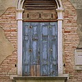 Venice Blue Arched Window by Robyn Saunders