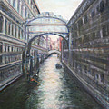 Venice Bridge Of Sighs - Original Oil Painting by Quin Sweetman