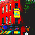 Venice Cafe' Painted And Edited by Kelly Awad