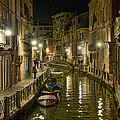 Venice Canal By Night by Crystal Nederman