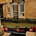 Venice Canal Gondola Awaits by Diana Shuter
