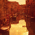 Venice Canal Sunset by Suzanne Powers
