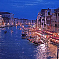 Venice - Canale Grande By Night by M Bleichner