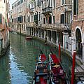 Venice Gondolas 2 by Karen Zuk Rosenblatt