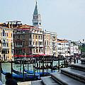 Venice Gondolas On Canal Grande by Irina Sztukowski
