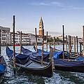 Venice Grand Canal And Goldolas by Melanie Viola