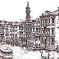Venice In Pen And Ink by Adendorff Design