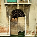 Venice Italy Boat Room Shutters by Robyn Saunders