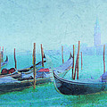 Venice Italy Gondolas With San Giorgio Maggiore by Douglas MooreZart