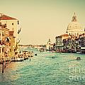 Venice Italy  Grand Canal In Vintage Style by Michal Bednarek