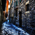 Venice Italy Silhouette - Lonely Walk