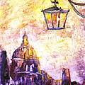 Venice Italy Watercolor Painting On Yupo Synthetic Paper by Ryan Fox