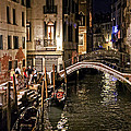 Venice Night By The Canal by Madeline Ellis