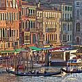 Venice Palazzi At Sundown by Heiko Koehrer-Wagner