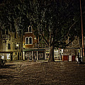 Venice Square At Night by Madeline Ellis