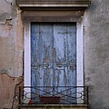 Venice Square Blue Shutters by Robyn Saunders