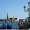 Venice View On Basilica Di San Giorgio Maggiore by Irina Sztukowski