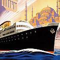 Venise Vintage Travel Poster by Jon Neidert