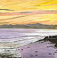 Ventura Point At Sunset by Ian Donley