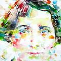Vera Brittain - Watercolor Portrait by Fabrizio Cassetta