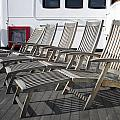 Verandah Seating 02 Queen Mary Ocean Liner Long Beach Ca by Thomas Woolworth