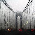 Verazanno Bridge Rain Photofresco by Joseph Hedaya