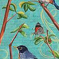 Verdigris Songbirds 1 by Debbie DeWitt