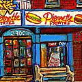Verdun Restaurants Pierrette Patates Pizza Poutine Pepsi Cola Corner Cafe Depanneur - Montreal Scene by Carole Spandau