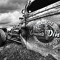 Vermin's Diner Rat Rod In Black And White by Gill Billington