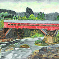 Vermont Covered Bridge by Michael Daniels