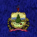 Vermont Flag by World Art Prints And Designs