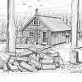 Vermont Hunter Lodge by Richard Wambach