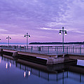 Vermont Lake Champlain Sunrise Clouds Fishing Pier by Andy Gimino